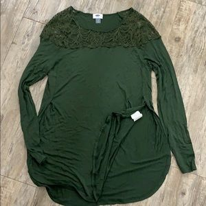 Old Navy Olive Green lace shirt